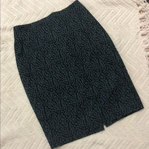 Black and blue patterned skirt by LOFT— size 4
